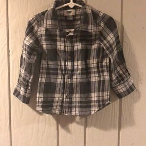 Old Navy Plaid Button Down Shirt